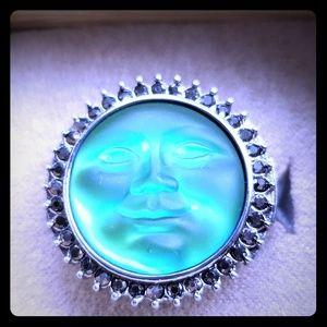 Kirks Folly Seaview Moon Ring  Sz.8